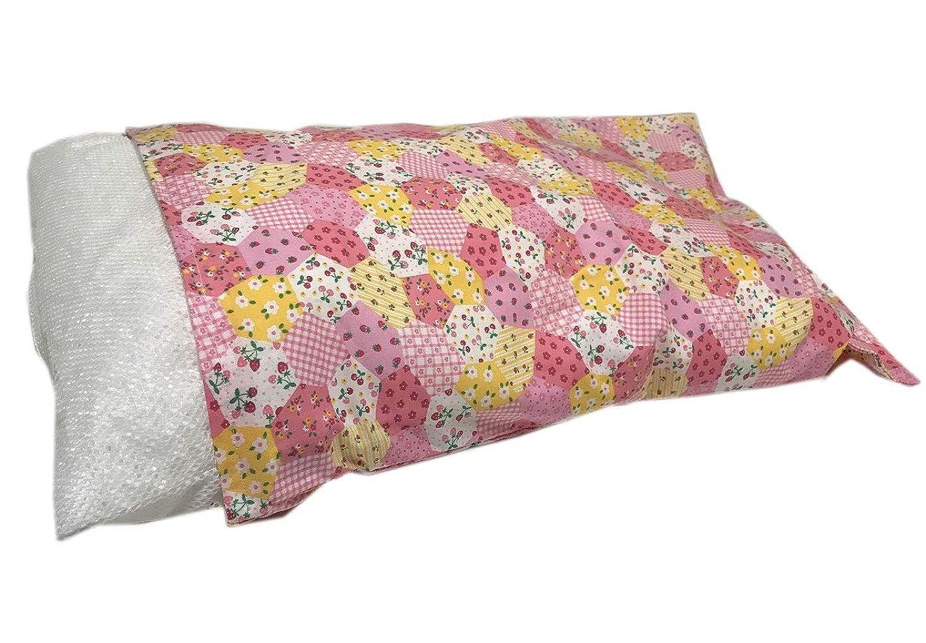 参照する配列こどもの日日本製 洗える パイプまくら ピンク系の枕カバー付 小粒のソフトパイプ くずの出にくいバージンパイプ使用(カバーの柄はおまかせ)