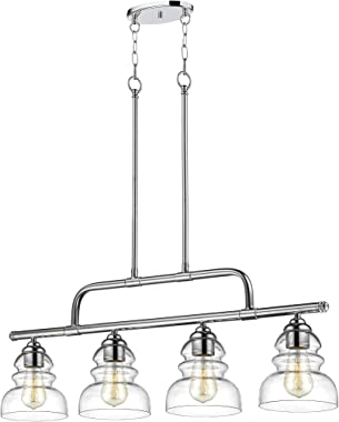 Millennium 7344-CH Four Light Island Pendant, 4, Chrome