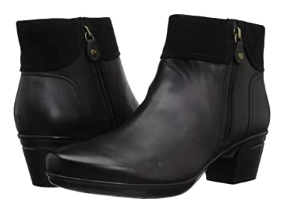 Clarks Emslie Twist (Black Leather/Suede Combination) Women