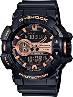 Casio G-Shock Black and Rose Gold-Tone Dial Resin Quartz...