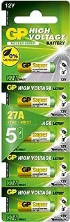 GP Batteries Super Alkaline 27AF-2C5 alkalinebatterijen, cilindrisch, 12 V, 28,2 mm, 5 stuks, chroom/zwart/rood
