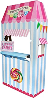 Birthday Express Carnival Candy Shoppe Room Decor - Cardboard Standup Playhouse Fort Stand
