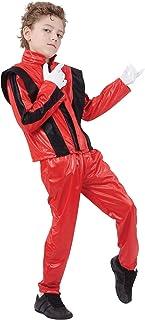 Bristol Novelty CC818 Pantalones/Chaqueta de Super Estrella, Mediano, Rojo, Edad aprox 5-7 años