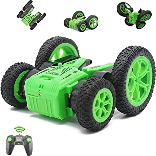 Fisca Remote Control Car RC Stunt Car for Kids, 4WD 2.4GHz Double Sided Spinning Blooming Tumbling Tricks Truck Toys for Children Age 5, 6, 7, 8, 9 and Up Year Old
