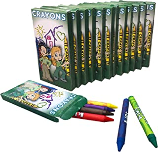Kicko Crayon Set - 12 Packs with 6 Assorted Coloring Crayons in each Pack - a Total of 72 Crayons, for School and Office Supplies, Arts and Crafts, DIY Projects, Painting, Color Collection