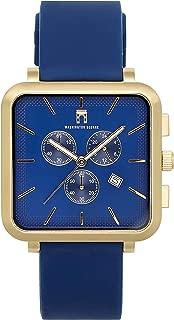 Washington Square's Classic Greenwich Bond Watch - 38mm Chronograph Watch - Japanese Quartz Movement -Sleek Silicone Strap