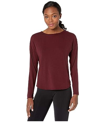 The North Face Workout Novelty Long Sleeve (Deep Garnet Red) Women