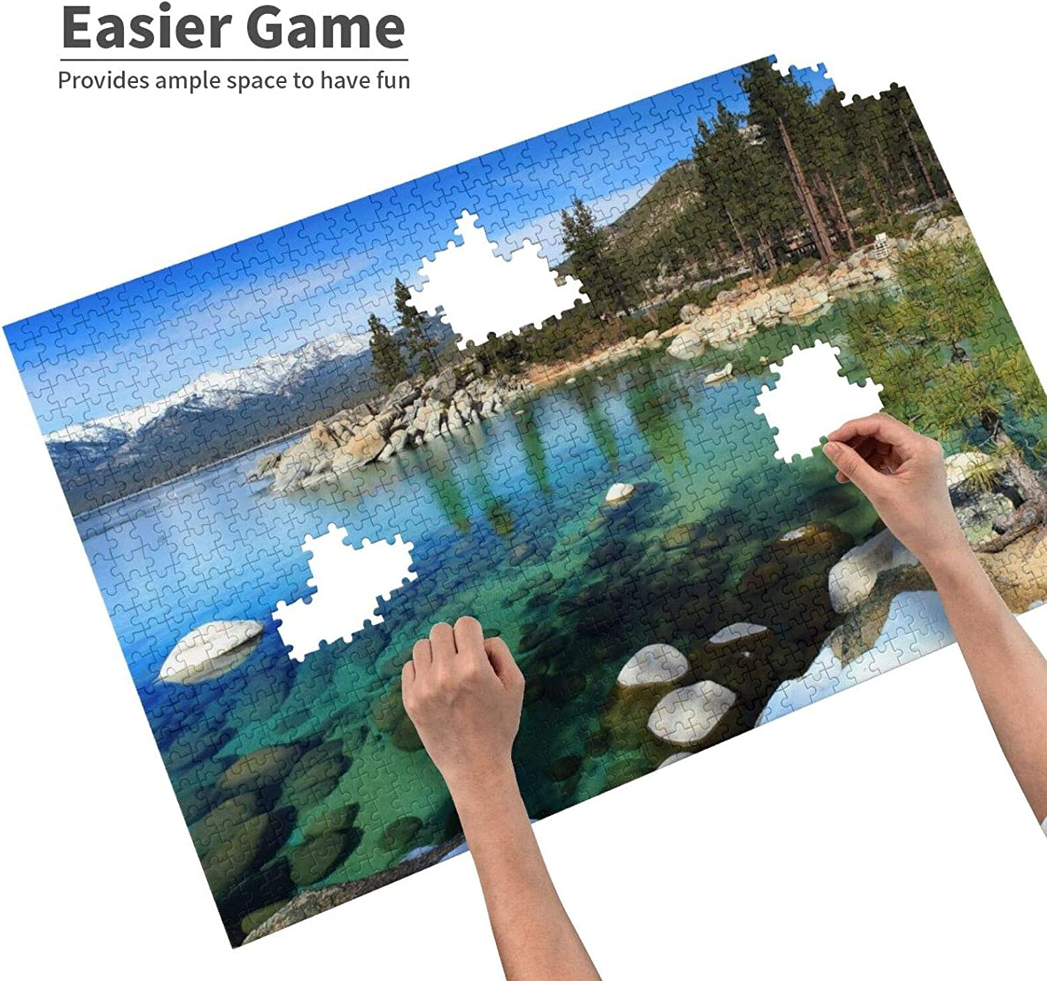 Lake Tahoe Tapestry California Jigsaw Puzzles Premium Adult 1000 Pieces Puzzle Educational Jigsaws Table Games Sturdy Fact Poster Personalized Recyclable Christmas Toy Game Gift For Kids Adult