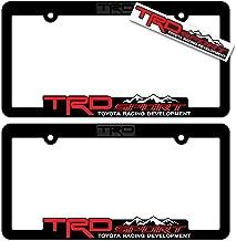 TRD SPORT (2) License Plate Frames Toyota Racing Development 3D Letter Frame Brackets (1-Pair)