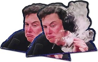 Elon Musk Smoking Weed Meme Weather-Proof Vinyl Sticker for Cars, Laptops, Skateboards, Water Bottles, Windows, Flat Surfaces