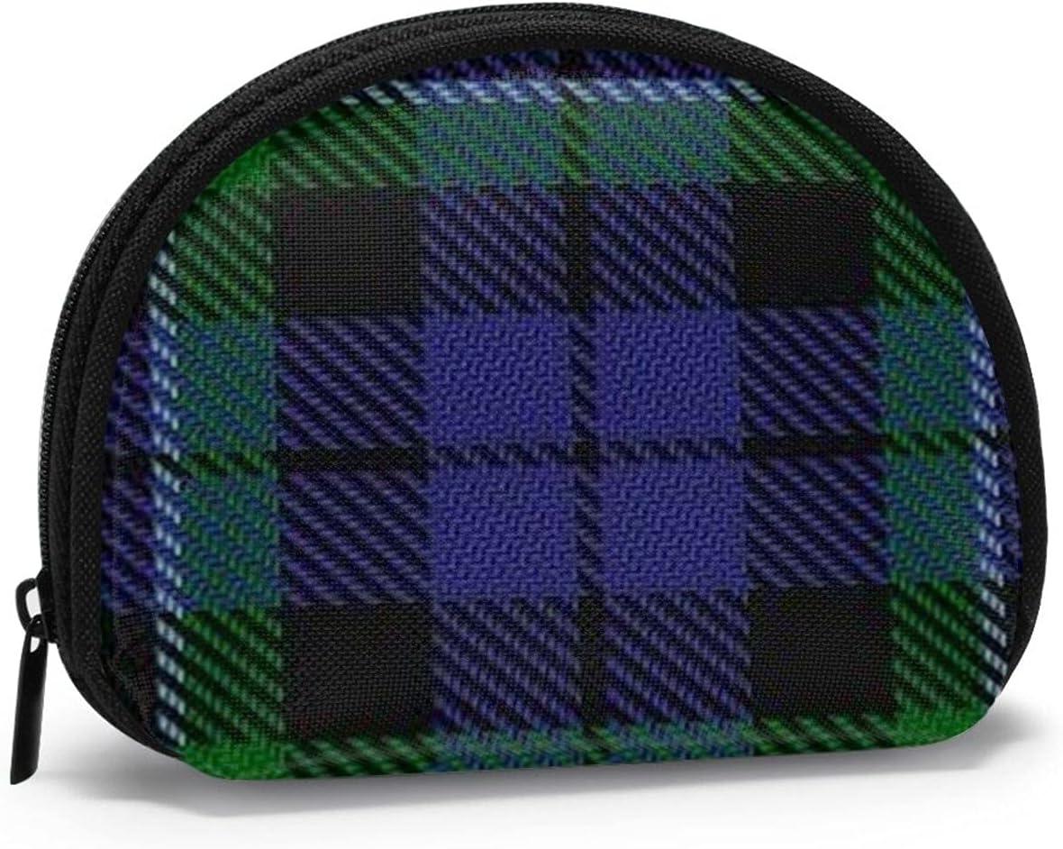 small zipper Coin Purses Vintage zipper Pouch Change Purse Wallets Scottish Clan Maccallum Tartan