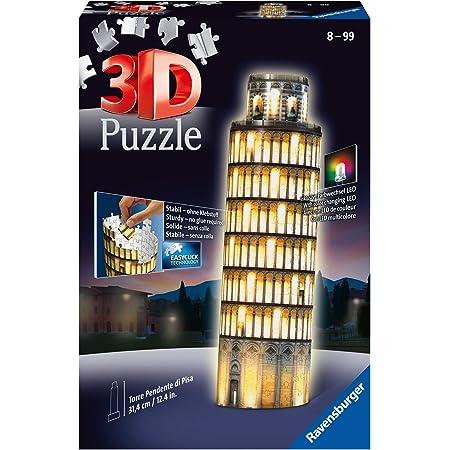 Ravensburger - Puzzle 3D - Building - Tour de Pise illuminée - 12515
