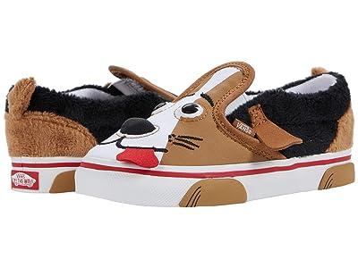 Vans Kids Dog Slip-On V (Infant/Toddler) ((Dog) Tortoise Shell) Kid