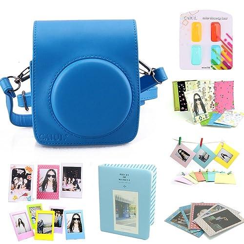 CAIUL 8 et 1 la formation de Fujifilm Instax Mini 70 Appareil Photos -Bleu