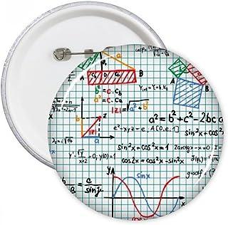 DIYthinker Trigonométrie Fonction Mathématique formules Science Calculus Figure Broches Rondes Badge Button Vêtements Déco...
