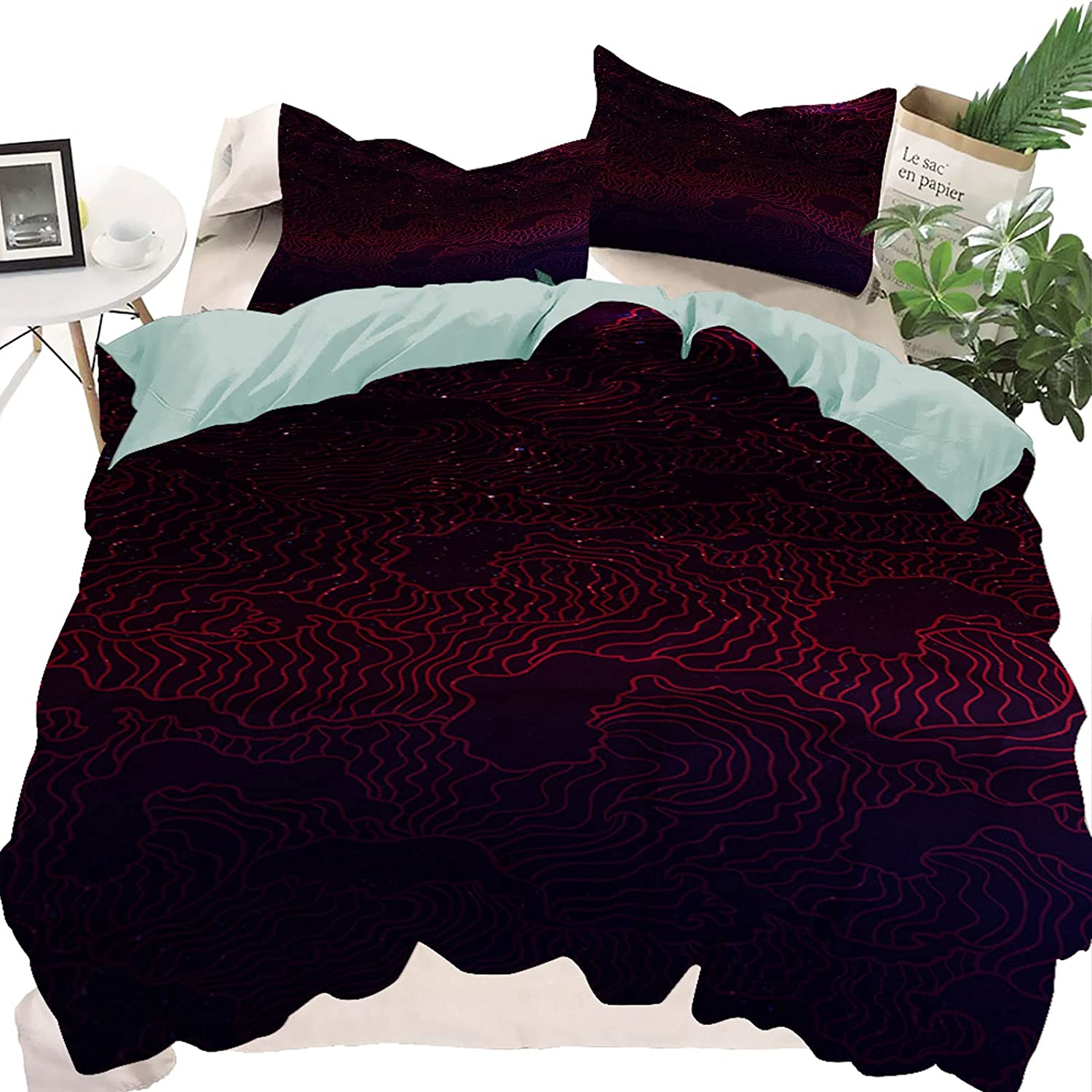 fucyBu Shiny Wavy Star 3 Piece Industry No. 1 Store Bed Twin Includes Set ComforterS