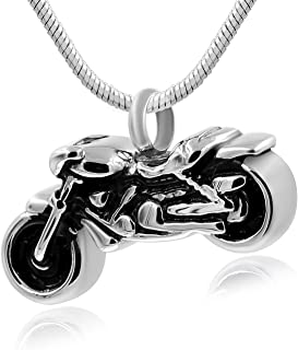 Hufan Motorcyle Cremation Jewelry for Ashes with Funnel and Chain