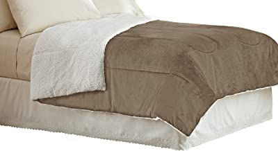 Idea Nuova Warmth Sherpa Comforter, Full/Queen, Chocolate