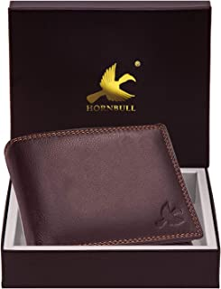 Hornbull Men's Stella Brown Genuine Leather RFID Blocking Wallet