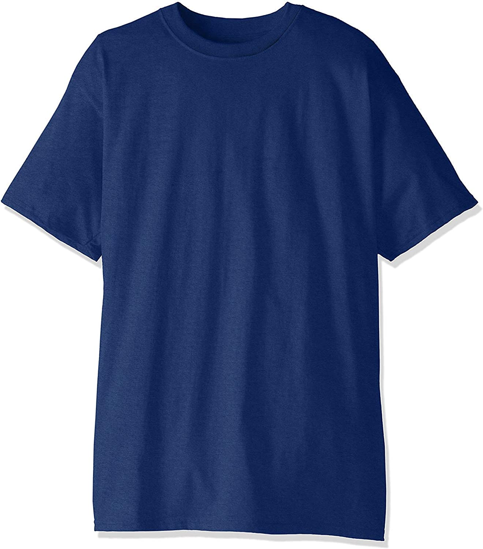 Hanes Men's Beefy-T Tall T-Shirt 2PK_Deep Royal_4XT