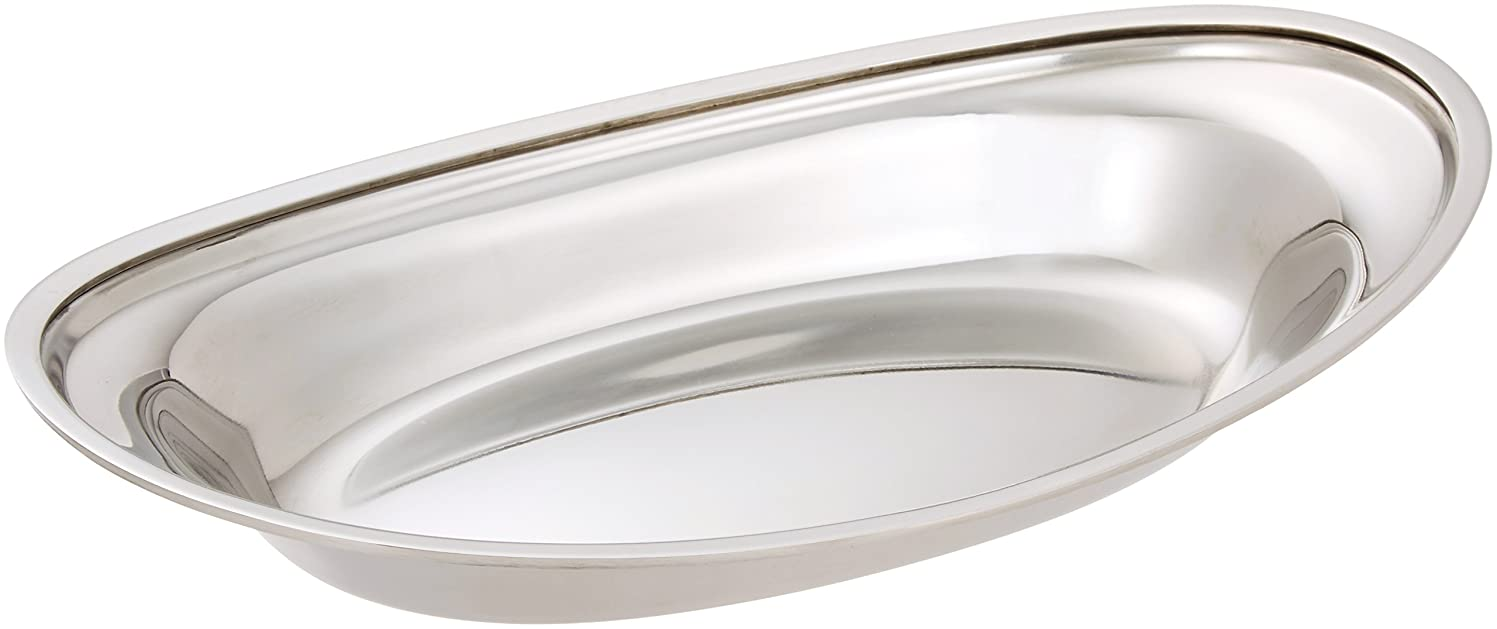 爵慎重にショップイケダ カレー皿 12- 1/2インチ 丸大 ステンレス 日本 NKL08001