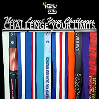   Challenge Your Limits   Sports Medal Display Hanger   Hand-Forged Chrome Steel Design For Marathon, Running, Race, 5K, Wrestling, Jiu Jitsu, Spartan, Etc.   The Medal Hangers Collection