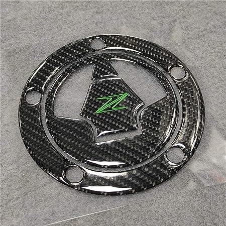 decalcomanie adesivo copertura tappo serbatoio serbatoio moto in fibra di carbonio per Z900 Z650 17-18 Qiilu Adesivo serbatoio moto
