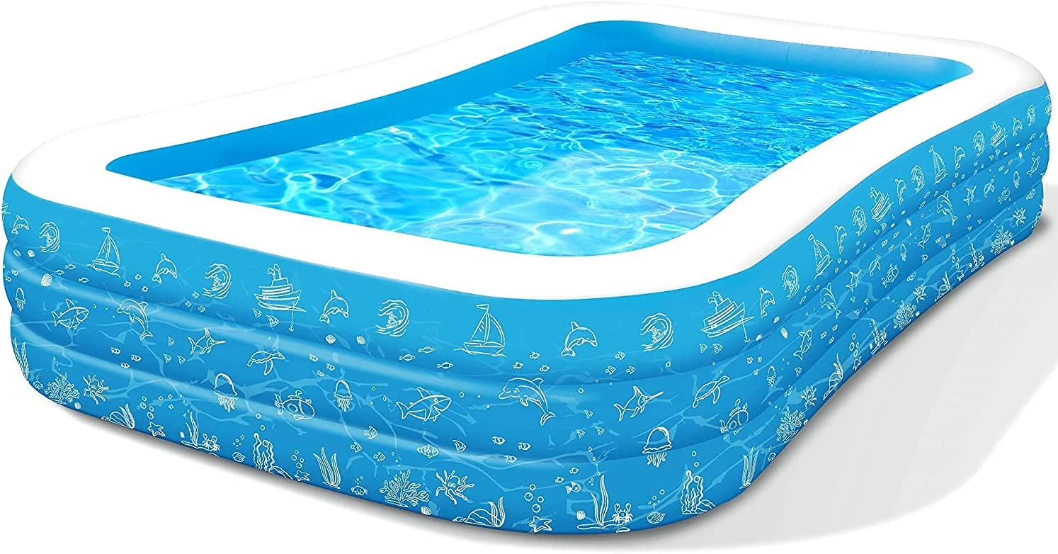 10Ft overseas x 6Ft 21In Family Ranking TOP15 Re Full-Sized Pool Inflatable Swimming