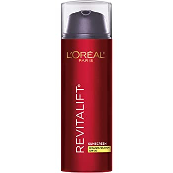 Face Moisturizer, L'Oreal Paris Revitalift Skincare Triple Power Broad Spectrum SPF 30 Sunscreen, with Pro-Retinol, Vitamin C, Hyaluronic Acid to Reduce Wrinkles, Firm and Brighten Skin, 1.7 Oz.