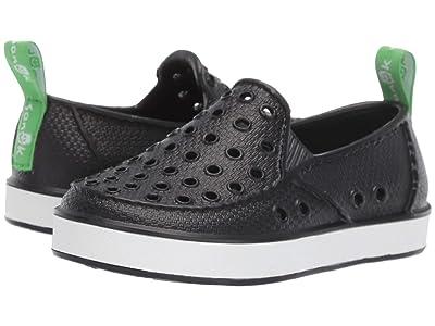 Sanuk Kids Lil Walker (Toddler/Little Kid) (Black/White) Boys Shoes