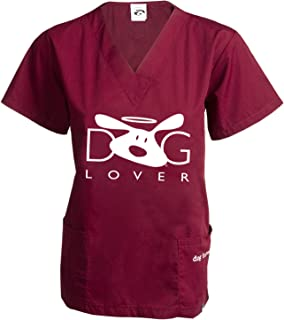 Dog is Good Dog Lover Scrub Top - Great Gift for Dog Lovers!