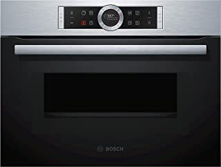 Four encastrable émail lisse Bosch CMG633BS1 - Four multifonction Chaleur tournante + Microondes / 45 litres / Inox / Port...
