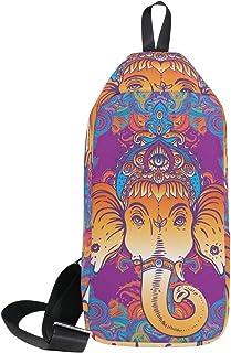 DragonSwordlinsu COOSUN - Mochila bandolera para hombre y mujer, diseño de elefante hippie