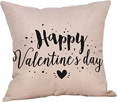Lemoning Happy Valentine's Day Throw Pillow Case Sweet Love Square Cushion Cover, Pillowcase Pillow Case Home Decor Living Room for Easter