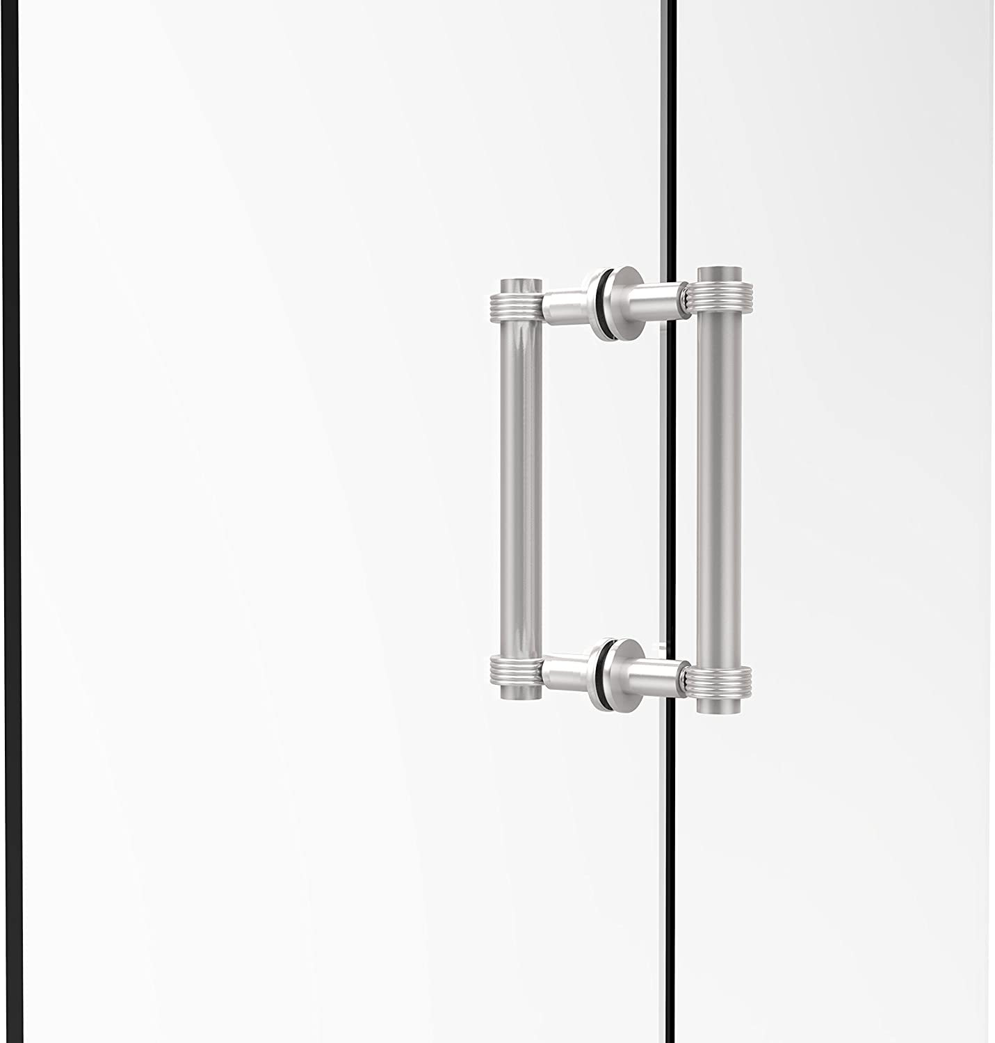 Allied Brass 404G-8BB-SCH Contemporary 8  Back To Back Shower Door Pull with Grooved Accent,
