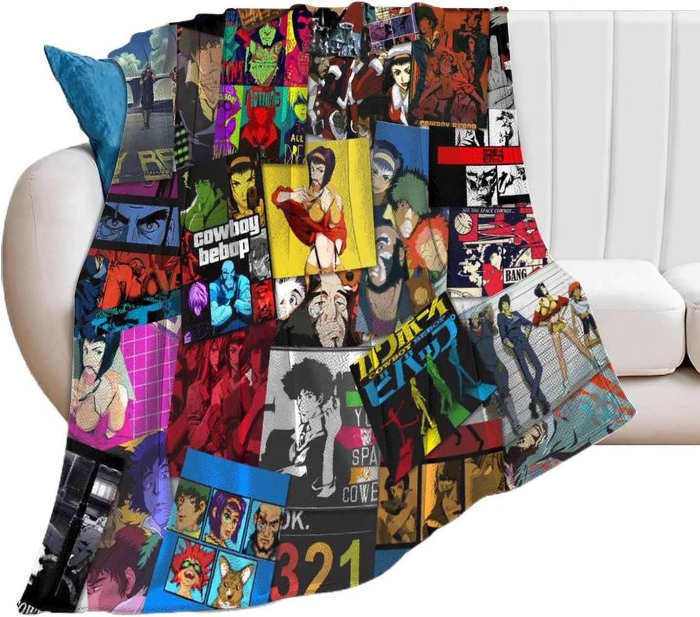 Cowboy Bebop Poster Collage Surprise price Blanket Lightweight Microfiber Throw Sales results No. 1