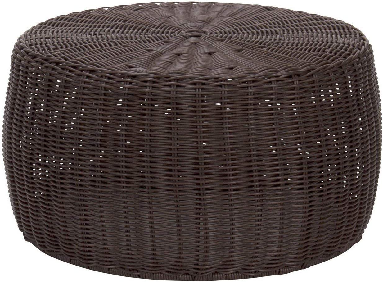 Outdoor Round Wicker Ottoman 2021new shipping free Brown Large Coffee Max 57% OFF Patio Table Roun