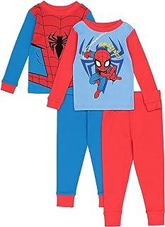Marvel Spider-Man - Pijama de algodón (4 Piezas) Juego de