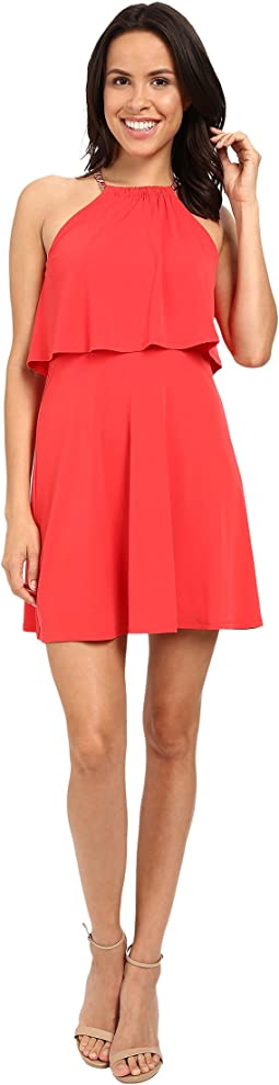 Solid Pop Over Dress JS6D8646