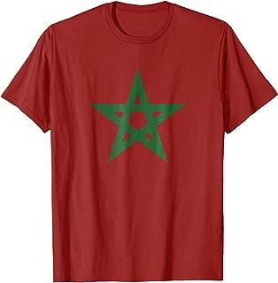Vintage Morocco T-shirt Retro Moroccan Flag Green Star Shirt