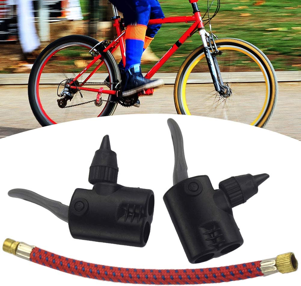 US MTB Bicyle Replacement Track Pump Dual Head Adapter Valve Bike Accessories