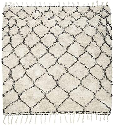 House Doctor Rug Zena, White/Black, 180 x 180 cm