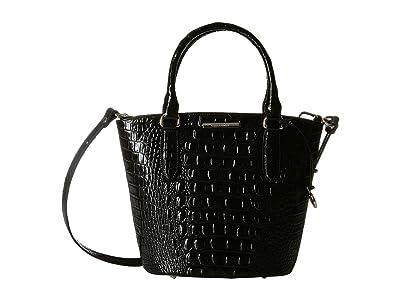 Brahmin Melbourne Small Bowie Satchel (Black) Satchel Handbags