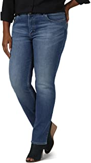 Riders by Lee Indigo Womens Plus Size Midrise Straight Leg Jean Jeans - Black - 20W