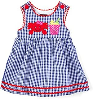 Lil Cactus Baby Girl's Blue Gingham A-Line Dress 3-6 M