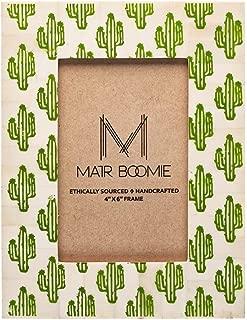 Matr Boomie Handmade Natural Bone Vintage Cactus Picture Photo Frame 4x6