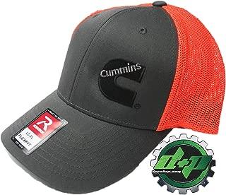 Dodge Cummins Trucker hat Richardson Charcoal Gray Orange mesh Flexfit LG/XL