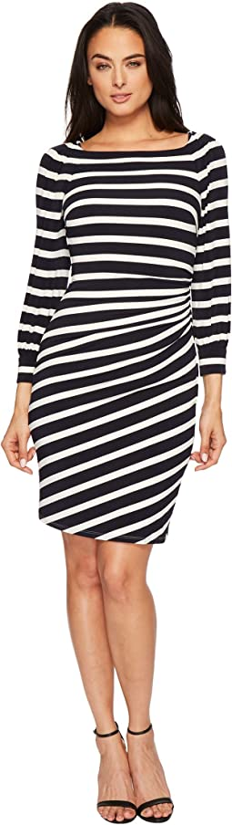 Kynara Tug Boat Stripe Matte Jersey Dress