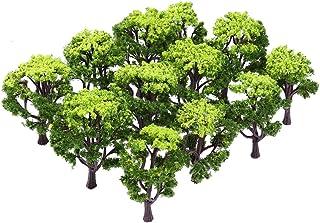 WINOMO Modellträd 12 st 3 – 16 cm blandad järnväg landskap tåg träd arkitektur träd för gör-det-själv landskap