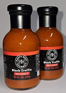 Sponsored Ad - Happy Host Gourmet Black Truffle Hot Sauce 2 Pack - Delicious Hot Sauce made with Ripe Chili Peppers, Agave...